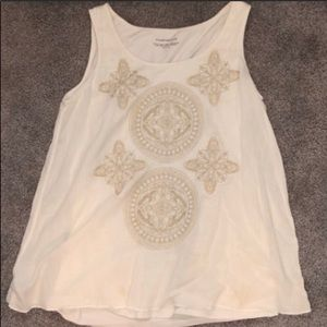 Charter Club White Tank Top Size M